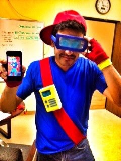 years ago I dressed up as KidVid from the Burger King Kids Club. Quailman Costume
